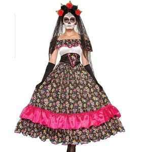 Women's Day Of Dead Spanish Lady Costume